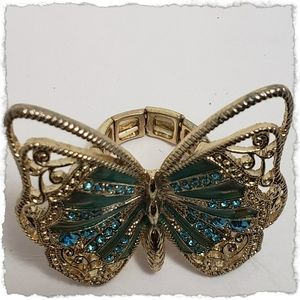 Butterfly stretchy ring